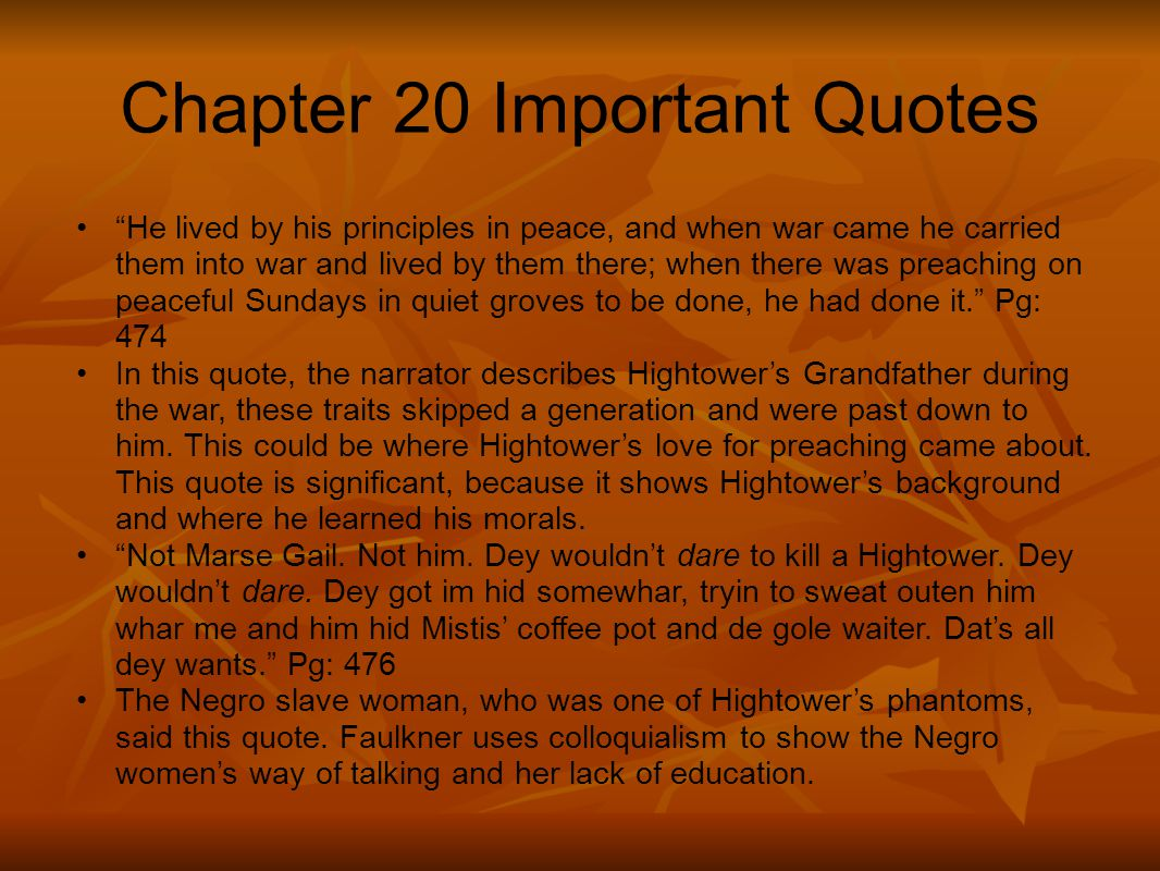 Chapter 20 Important Quotes