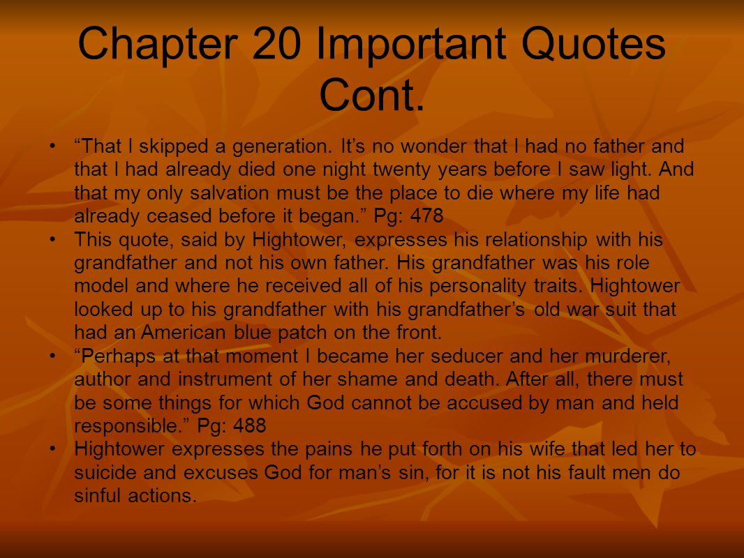 Chapter 20 Important Quotes Cont.
