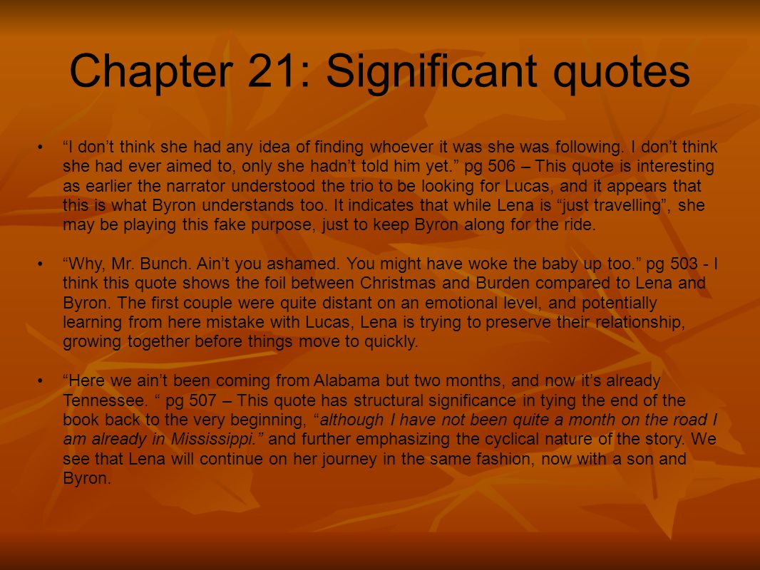 Chapter 21: Significant quotes