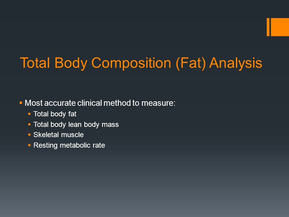 Total Body Composition (Fat) Analysis