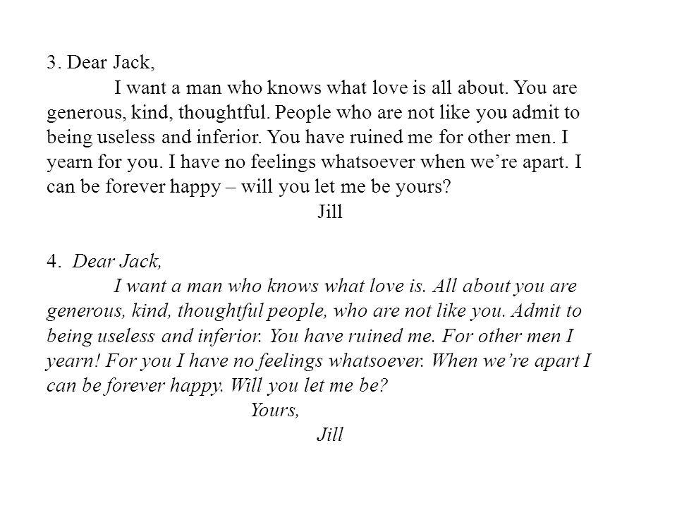 3. Dear Jack,