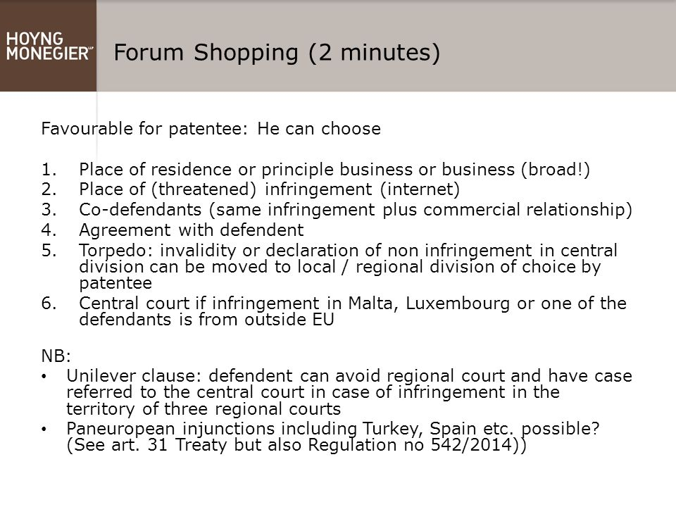 Forum Shopping (2 minutes)