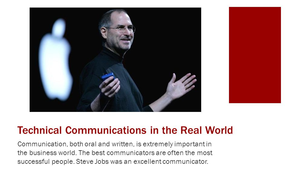 Technical Communications in the Real World