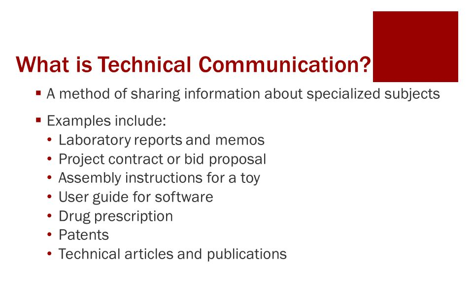 What is Technical Communication