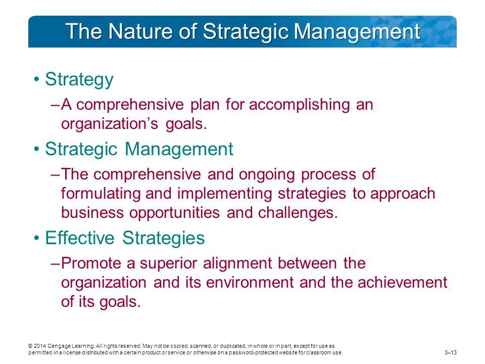 The Nature of Strategic Management