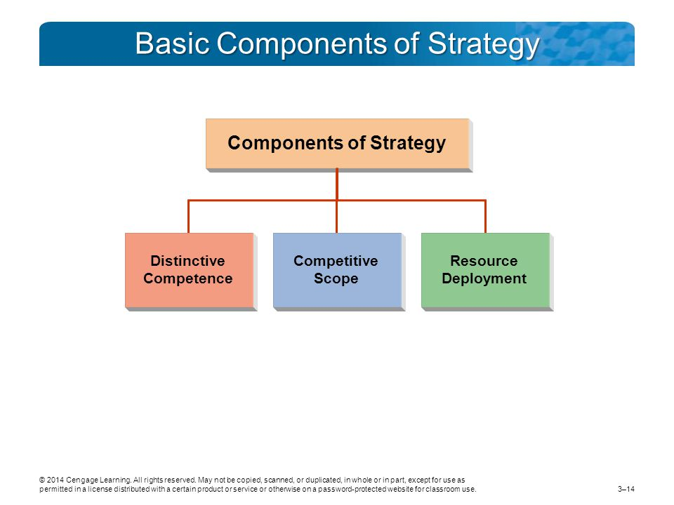 Basic Components of Strategy