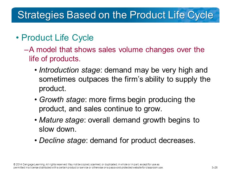 Strategies Based on the Product Life Cycle