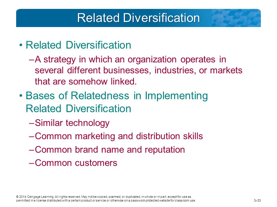 Related Diversification