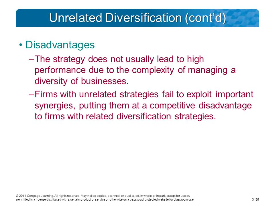 diversification failure