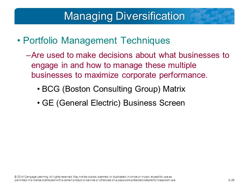 Managing Diversification