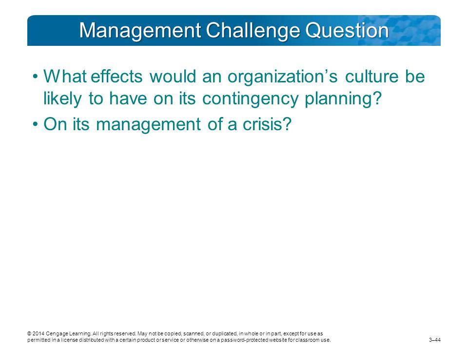 Management Challenge Question