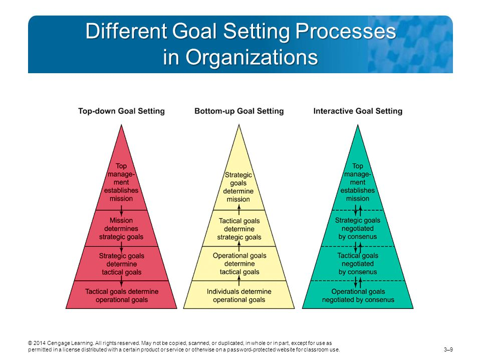 Different Goal Setting Processes in Organizations