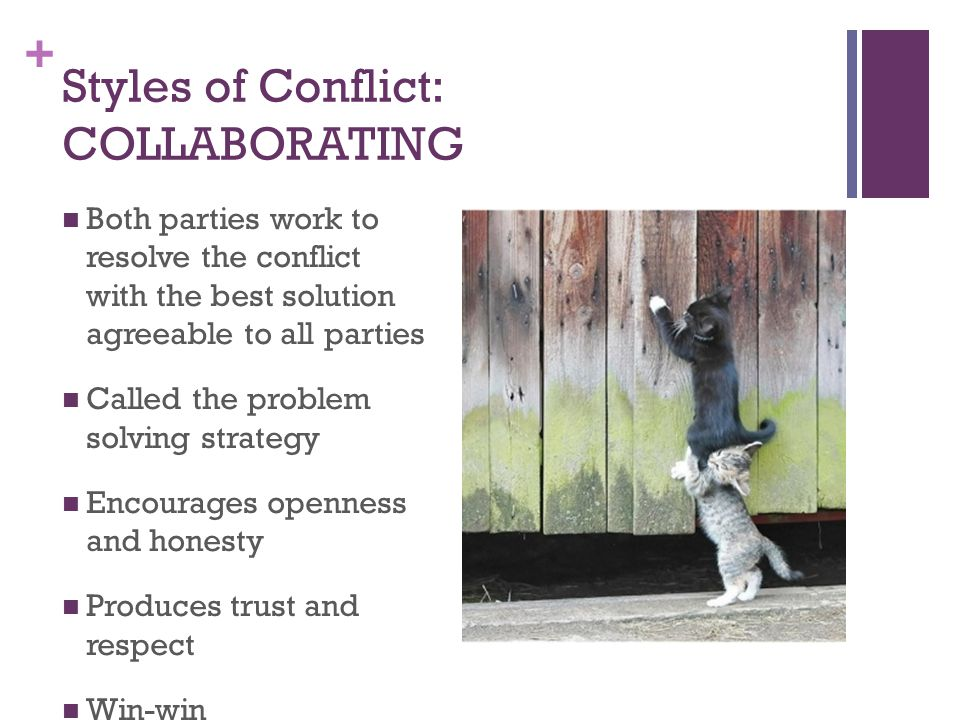 Styles of Conflict: COLLABORATING