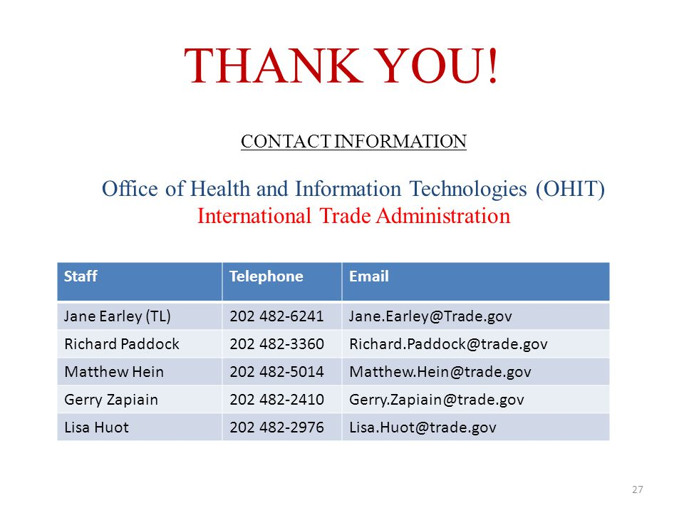 March 27, 2014 Prepared by Office of Health & Information Technologies