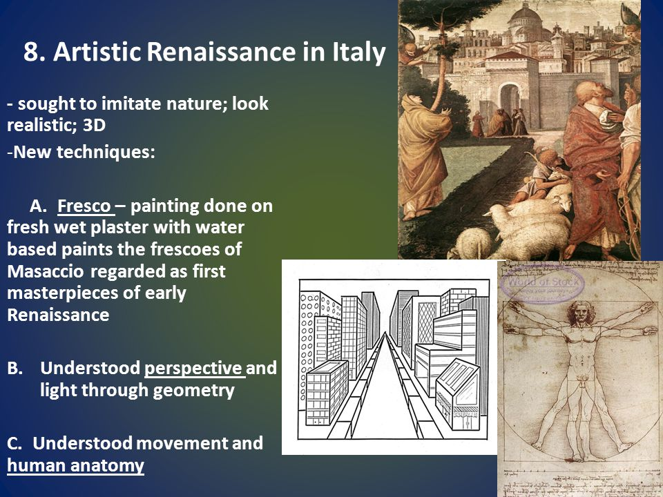 8. Artistic Renaissance in Italy