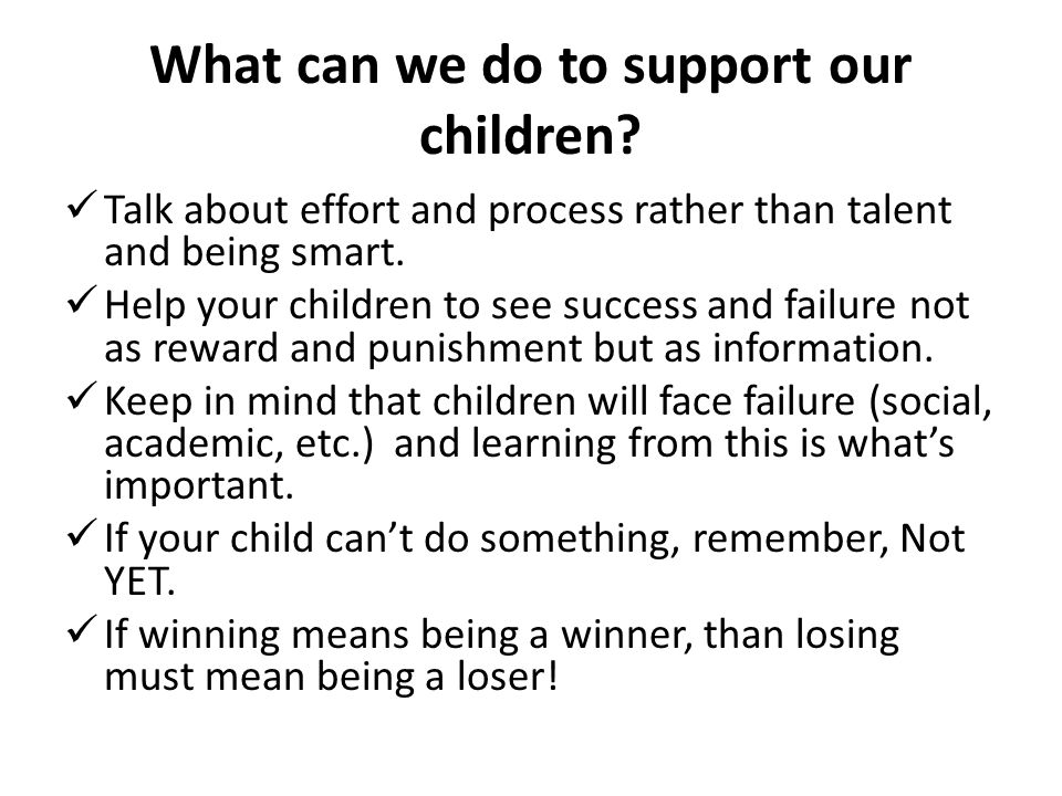 What can we do to support our children