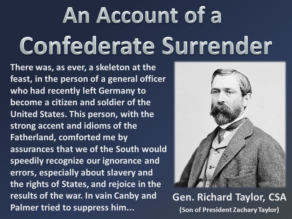 An Account of a Confederate Surrender
