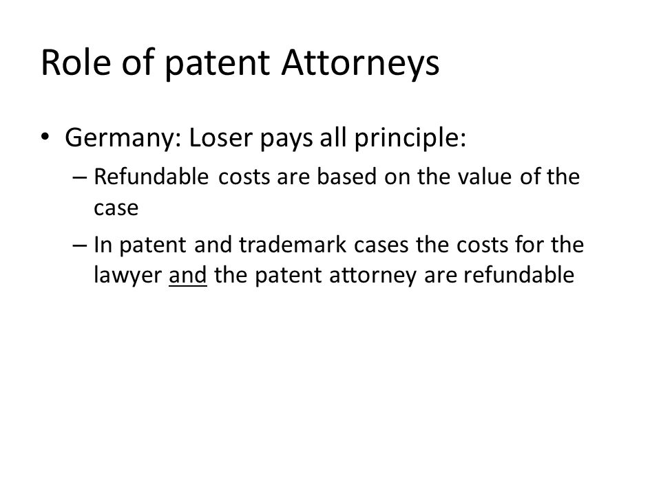 Role of patent Attorneys