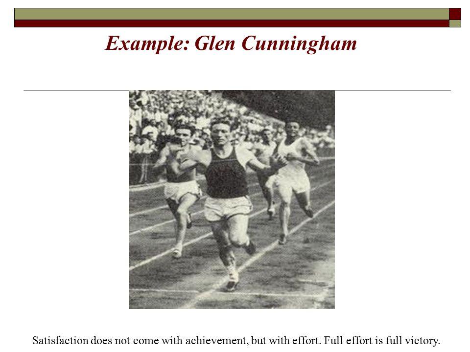 Example: Glen Cunningham