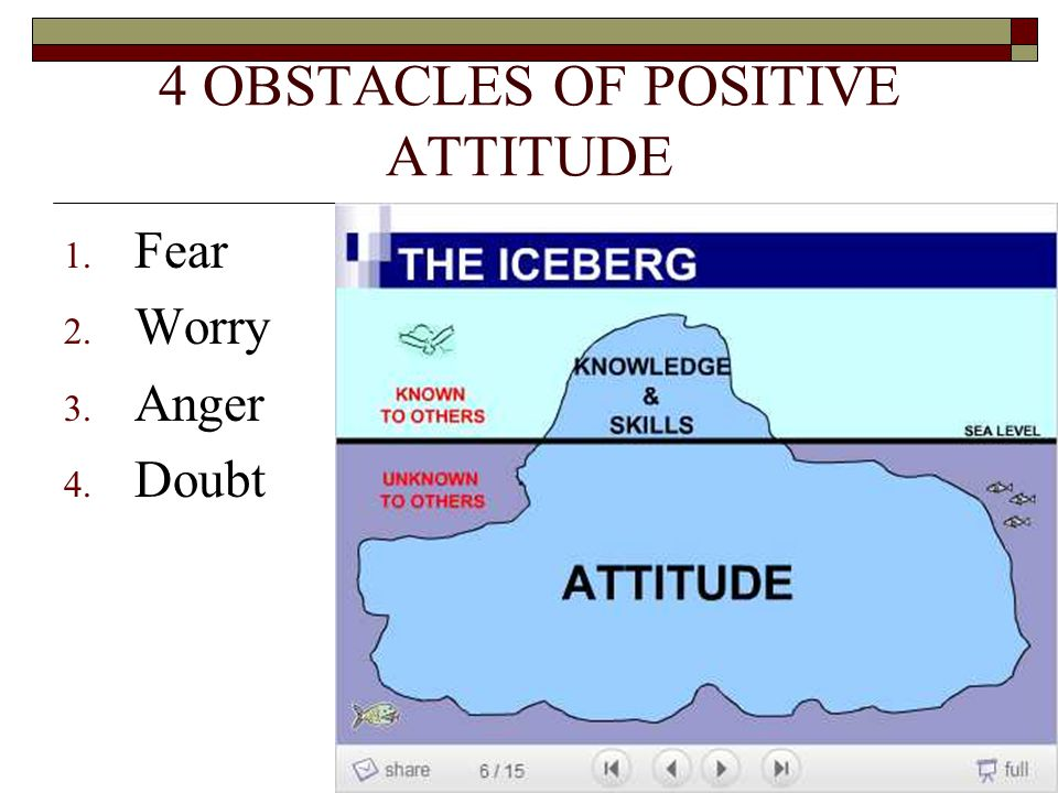 4 OBSTACLES OF POSITIVE ATTITUDE