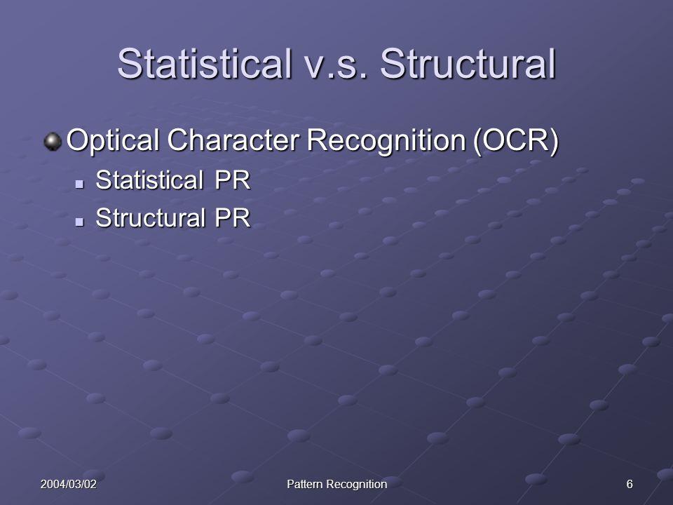 Statistical v.s. Structural