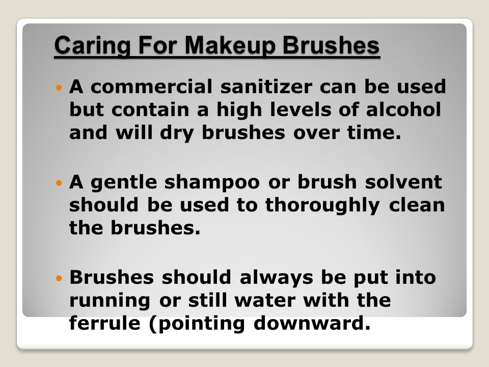 Caring For Makeup Brushes
