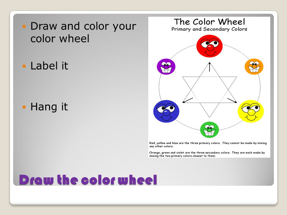Draw and color your color wheel