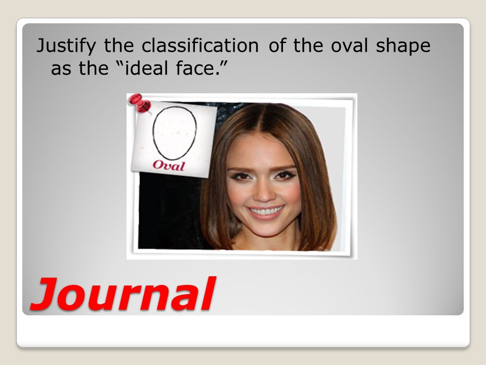 Justify the classification of the oval shape as the ideal face.