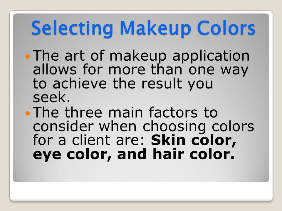 Selecting Makeup Colors
