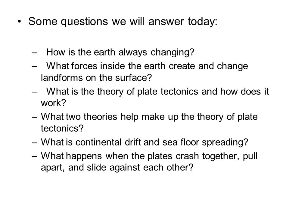 Some questions we will answer today: