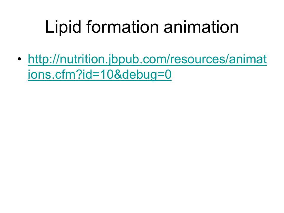 Lipid formation animation