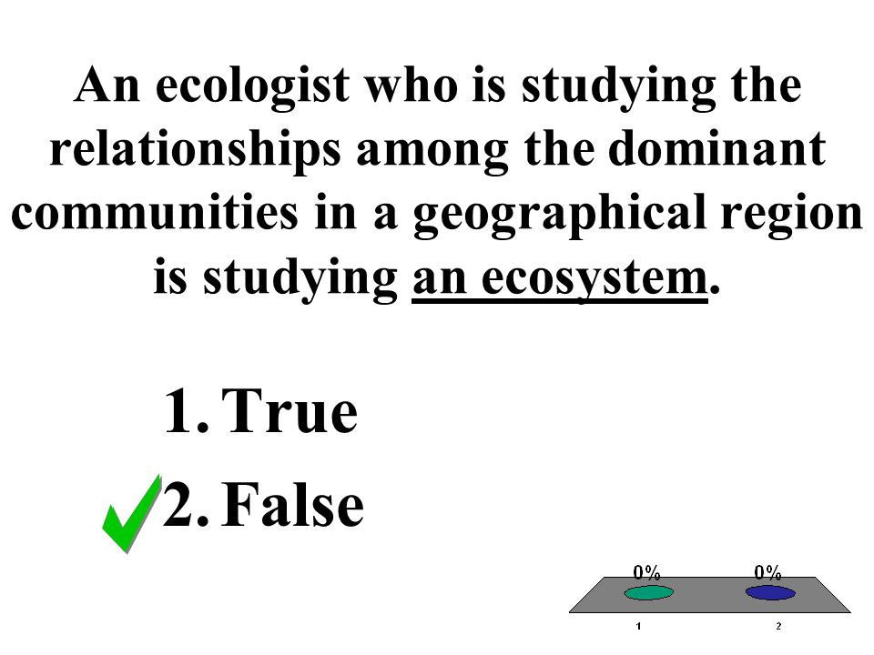 An ecologist who is studying the relationships among the dominant communities in a geographical region is studying an ecosystem.