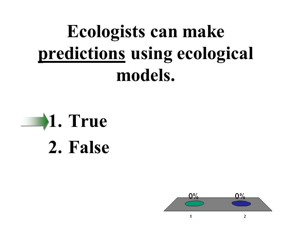 Ecologists can make predictions using ecological models.