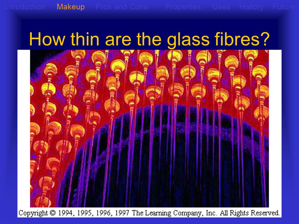 How thin are the glass fibres