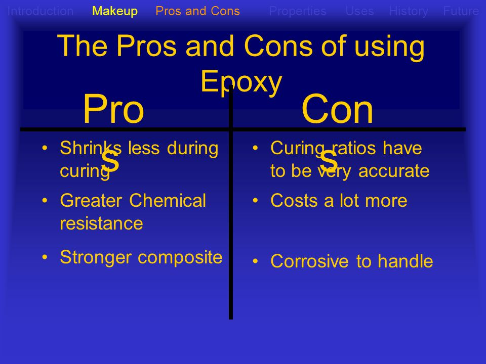 The Pros and Cons of using Epoxy