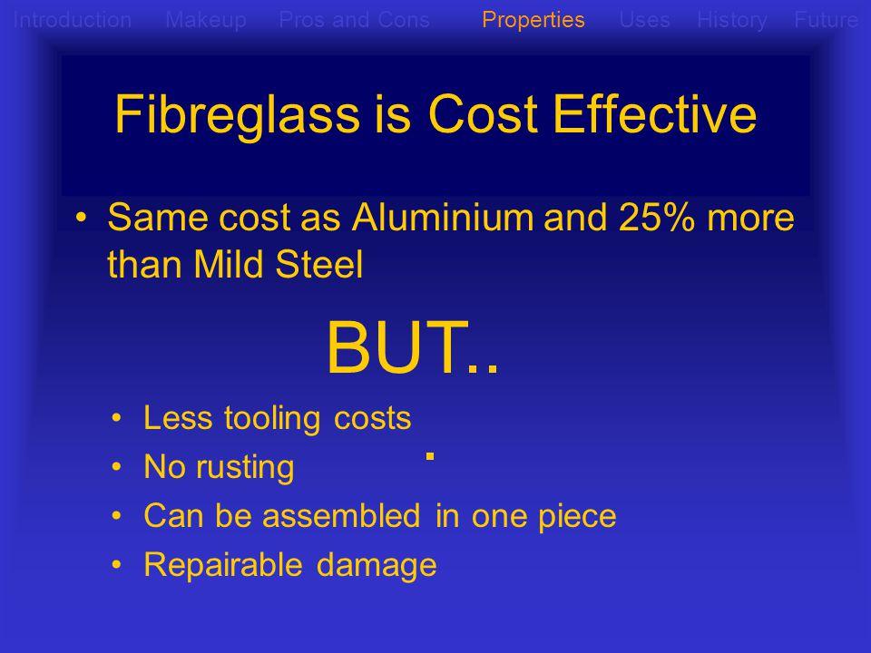 Fibreglass is Cost Effective