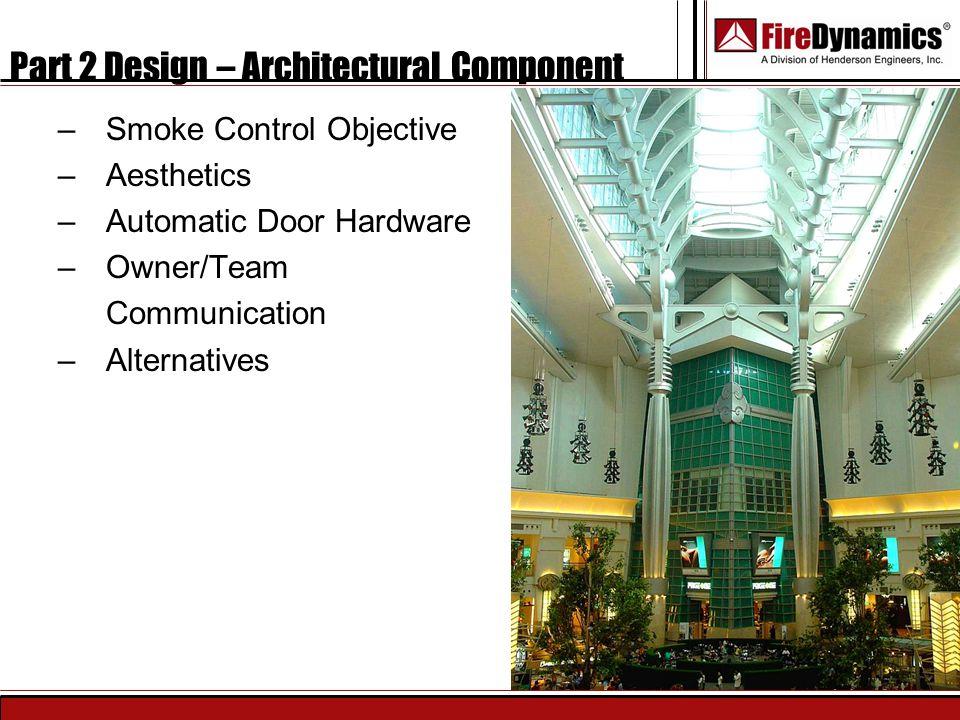 Part 2 Design – Architectural Component