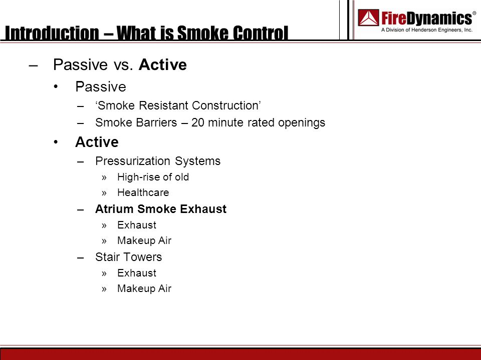 Introduction – What is Smoke Control