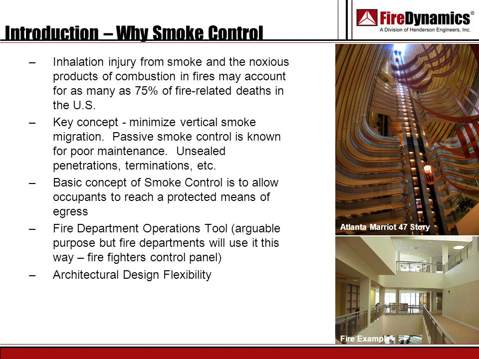 Introduction – Why Smoke Control