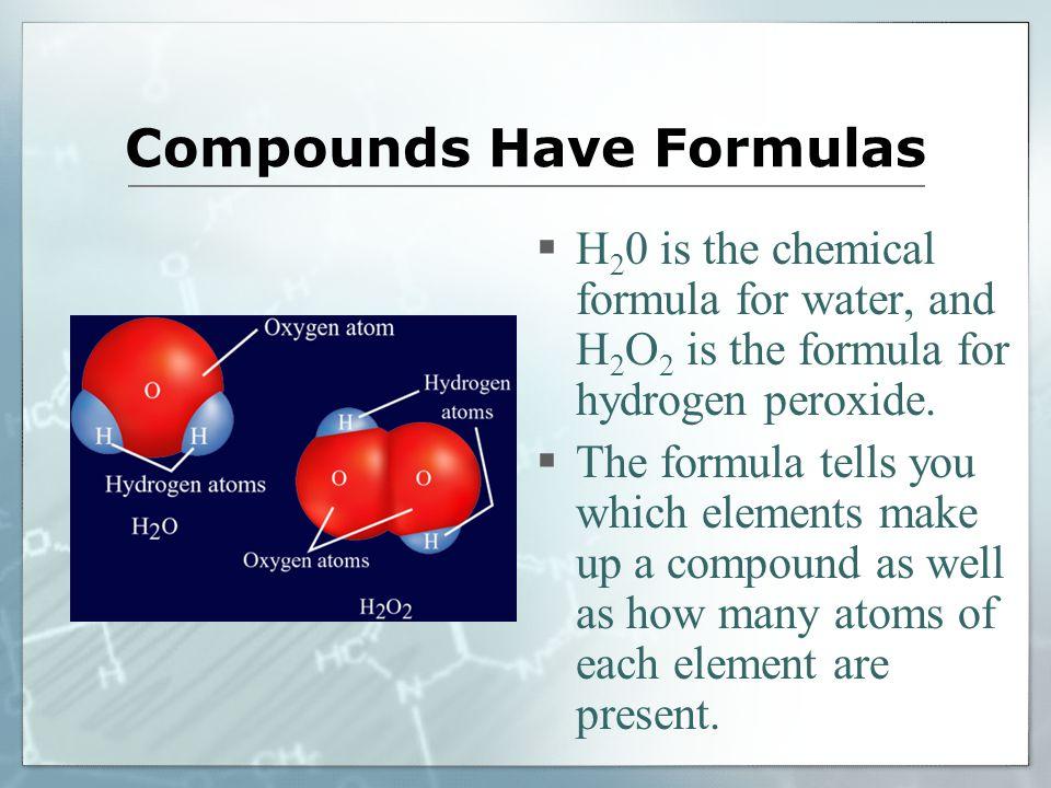 Compounds Have Formulas