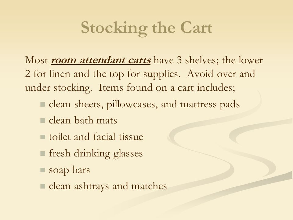 Stocking the Cart