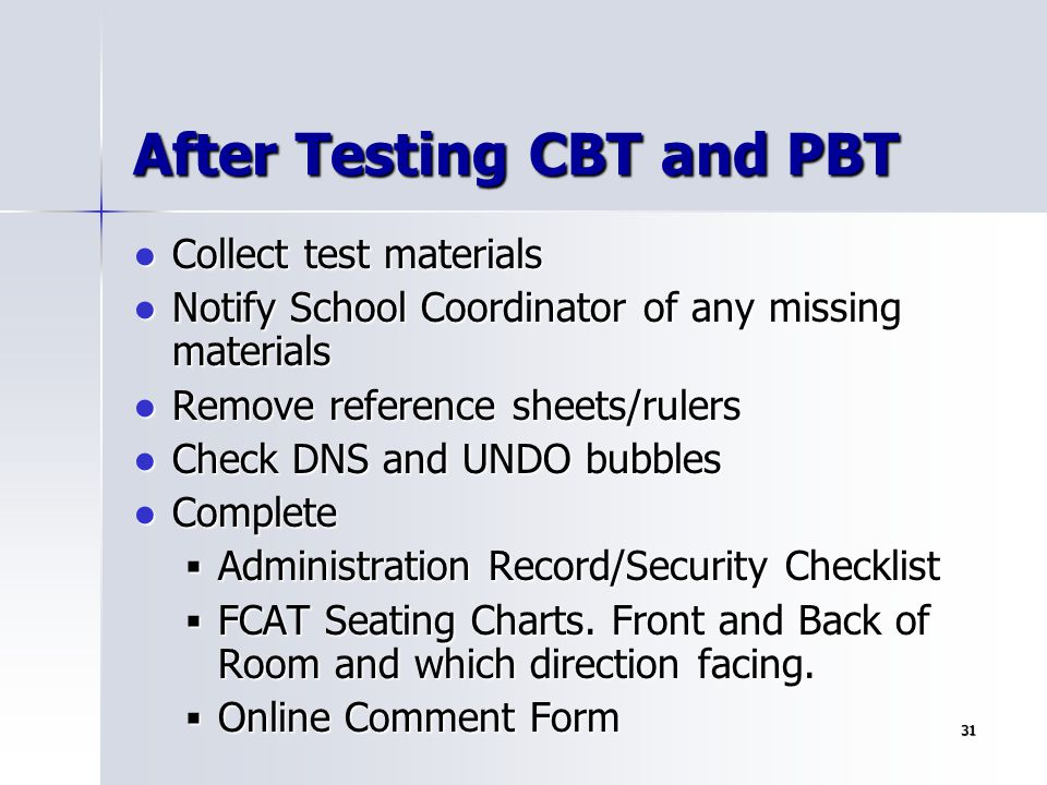 After Testing CBT and PBT
