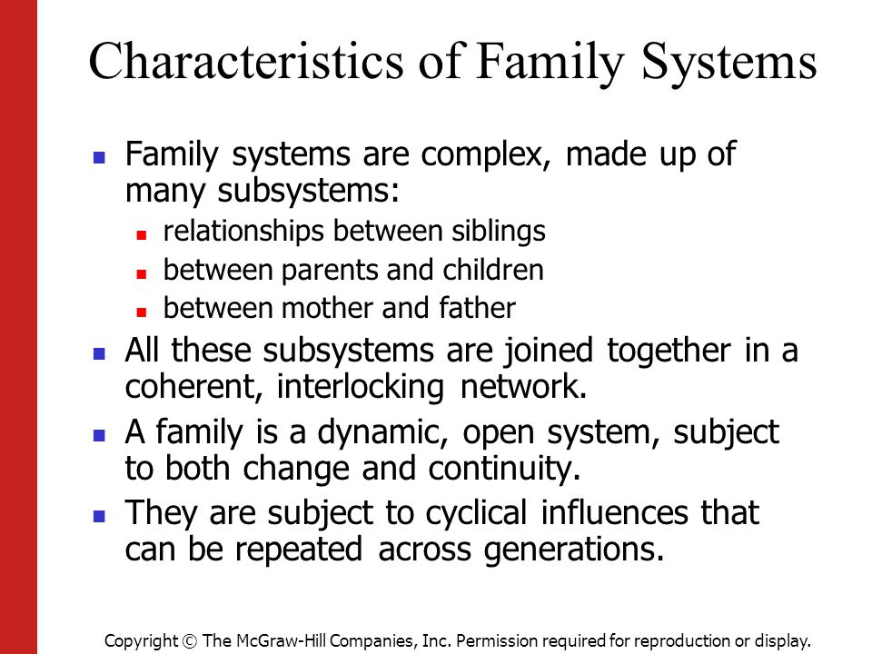 Characteristics of Family Systems