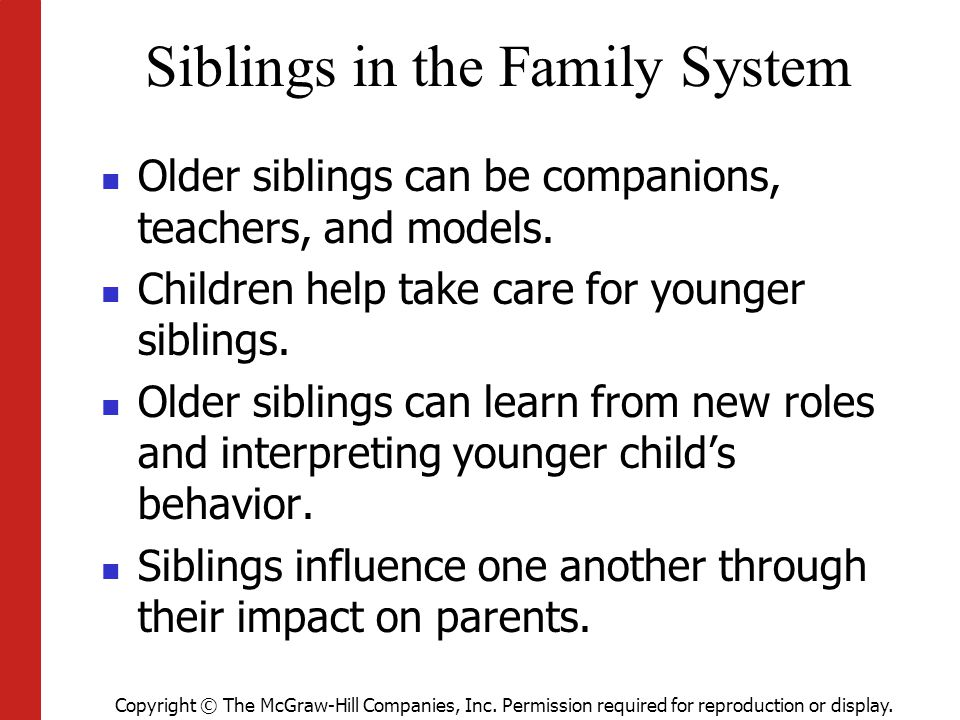 Siblings in the Family System