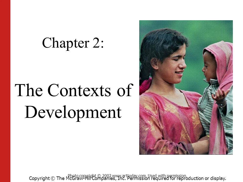Chapter 2: The Contexts of Development