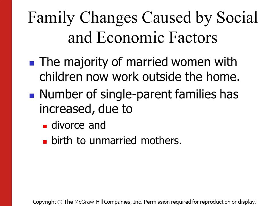 Family Changes Caused by Social and Economic Factors