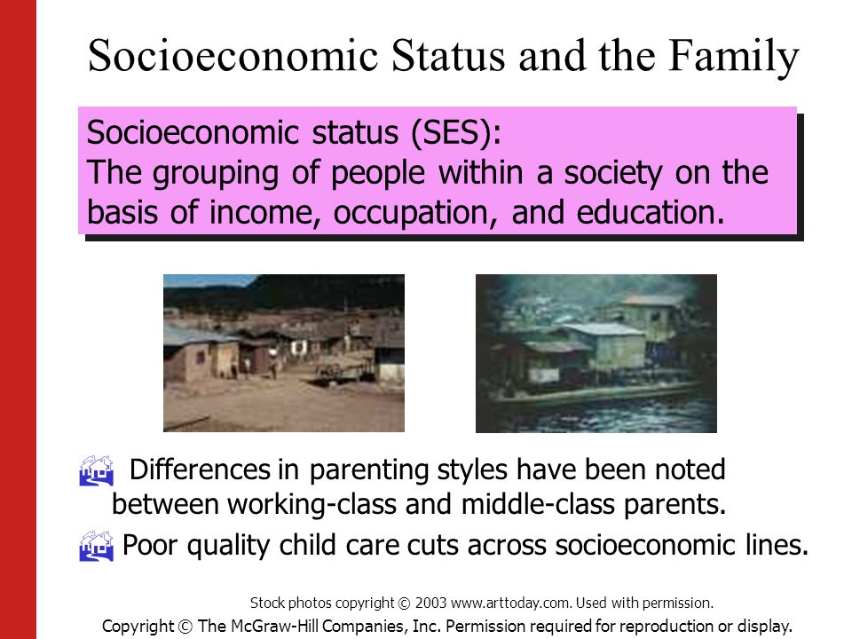 Socioeconomic Status and the Family