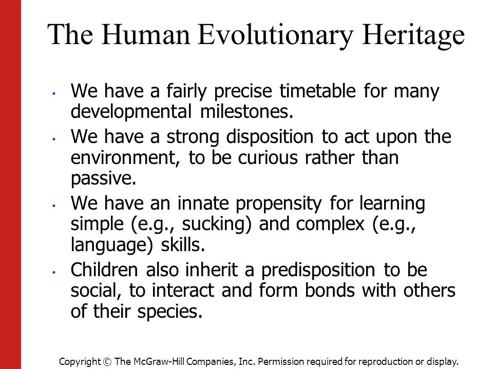 The Human Evolutionary Heritage