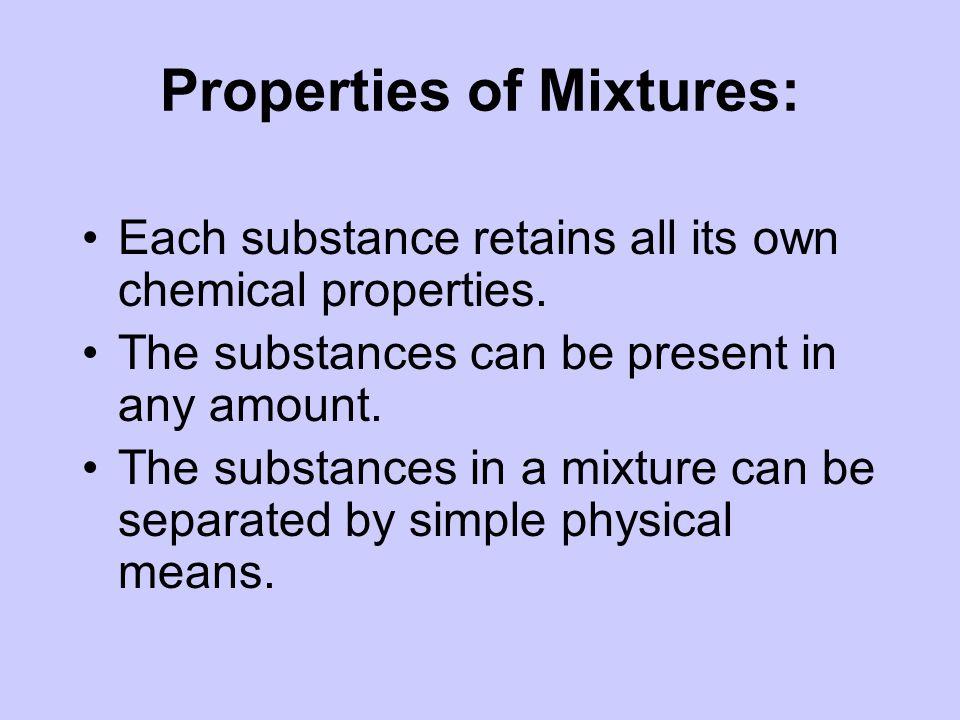 Properties of Mixtures:
