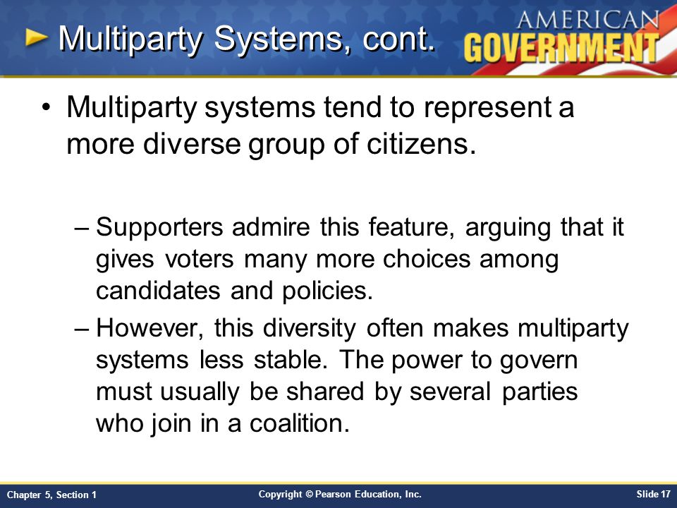 Multiparty Systems, cont.